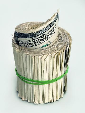American One Hundred Dollar Bill「Roll of 100 Dollar Bills」:スマホ壁紙(7)