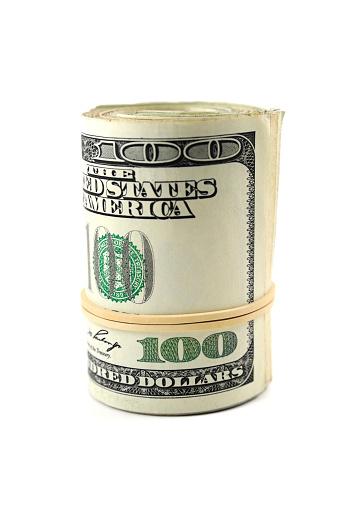 American One Hundred Dollar Bill「Roll of 100 dollars」:スマホ壁紙(12)