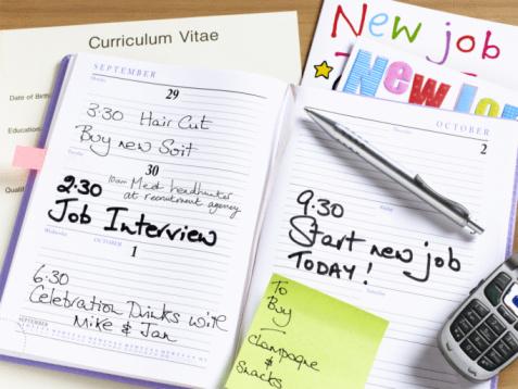 Adhesive Note「New job diary.」:スマホ壁紙(12)