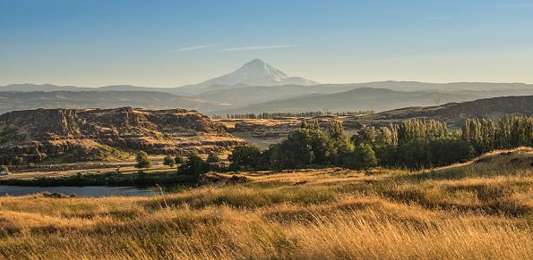 Volcanic Landscape「Mount Hood Alpenglow Sunset」:スマホ壁紙(17)