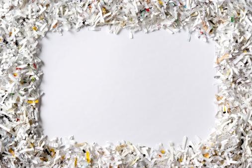 Single Word「Frame of the shredded paper on white background」:スマホ壁紙(14)
