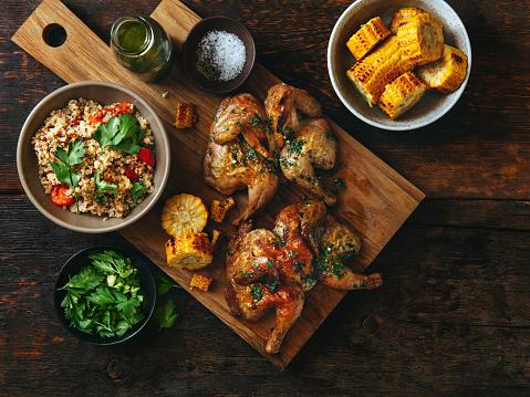 Roast Chicken「Grilled whole butterflied chickens」:スマホ壁紙(17)