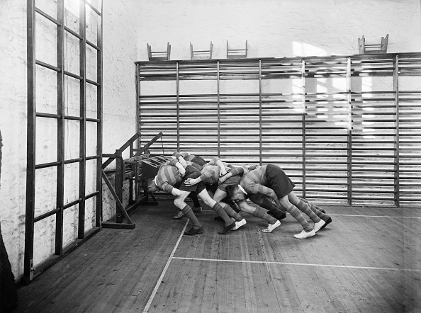 Teamwork「Students Practicing Rugby Scrummaging」:写真・画像(5)[壁紙.com]