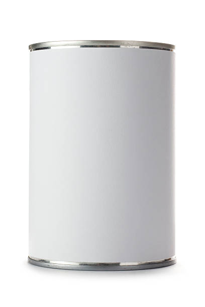 Tin can with a blank label on a white background:スマホ壁紙(壁紙.com)