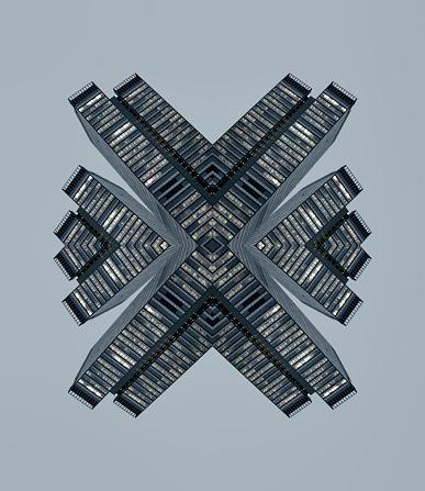 Digital Composite「Kaleidoscope skyscrapers」:スマホ壁紙(0)