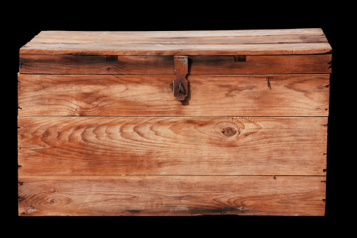 Crate「Antique wooden box with clipping path.」:スマホ壁紙(9)