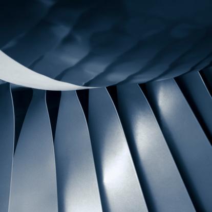 Commercial Airplane「Close-up aircraft jet engine turbine」:スマホ壁紙(1)
