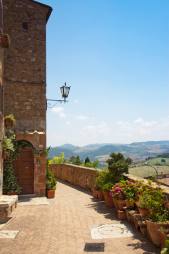 Val d'Orcia「Italy. Tuscany.Val D'Orcia.  Pienza」:スマホ壁紙(6)