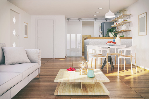Living Room「Small functional apartment」:スマホ壁紙(10)