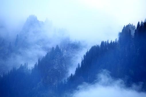 Meteorology「smoke covered mountain」:スマホ壁紙(11)