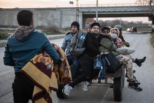 Greece「Migrants Continue To Wait At The Turkish Greek Border」:写真・画像(0)[壁紙.com]
