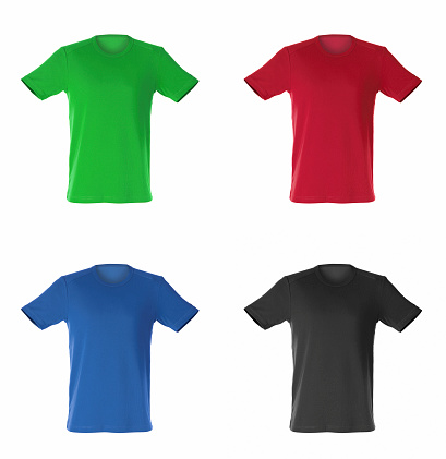 Textile Industry「four isolated t-shirts」:スマホ壁紙(16)