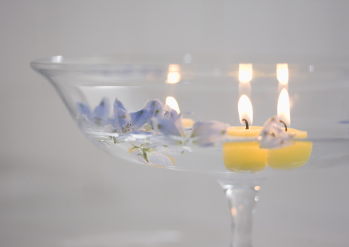Floating Candle「Candles and delphiniums」:スマホ壁紙(3)