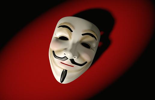 Beard「Mask of Guy Fawkes on red」:スマホ壁紙(9)