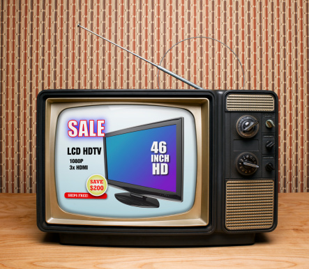 The Past「Old TV with HDTV Advertisement」:スマホ壁紙(9)