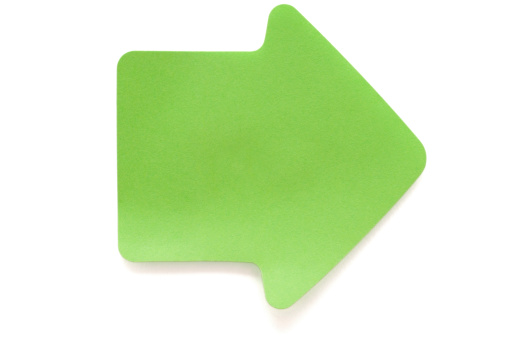 Adhesive Note「Green arrow post-it note on white」:スマホ壁紙(16)