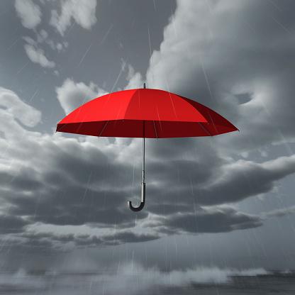 Insurance「rain falls on red umbrella」:スマホ壁紙(12)