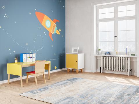 Playful「Modern Teen Bedroom in Space Style」:スマホ壁紙(4)