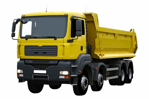 Earth Mover「Yellow Truck Isolated On White」:スマホ壁紙(5)