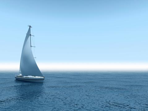 Ship「Yacht sea.」:スマホ壁紙(3)