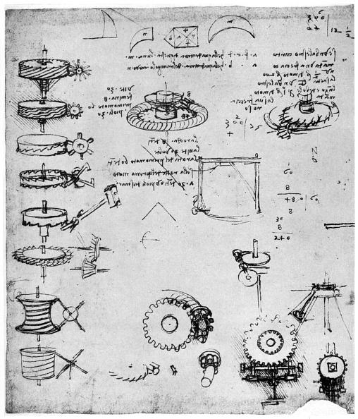 Industry「Cog wheels (detail), late 15th or early 16th century (1954).Artist: Leonardo da Vinci」:写真・画像(6)[壁紙.com]