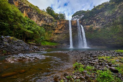 Rock Face「Wailua waterfall,Kauai,Hawaii,USA」:スマホ壁紙(11)