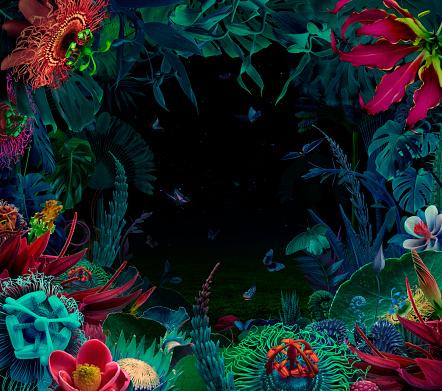 Fairy「Fairy night tropical garden」:スマホ壁紙(17)