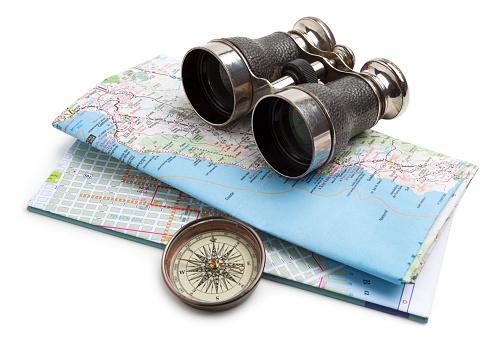 Binoculars「Map, compass and binoculars」:スマホ壁紙(8)