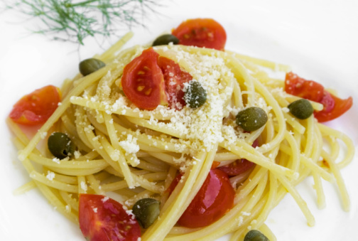 Fennel「Spaghetti with tomato, capers and anchovies」:スマホ壁紙(8)