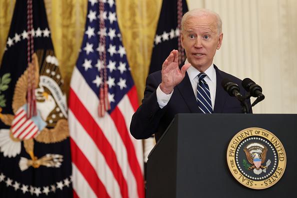 Press Conference「Joe Biden Holds First Press Conference As President」:写真・画像(2)[壁紙.com]