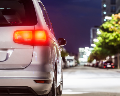 Germany「Car standing on street, rear view」:スマホ壁紙(13)