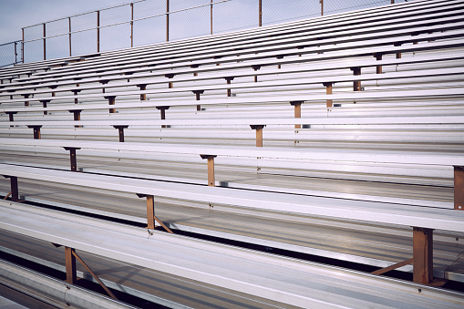 Stadium「Empty bleacher in stadium」:スマホ壁紙(10)