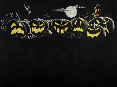 Halloween ghost「Halloween Border」:スマホ壁紙(7)