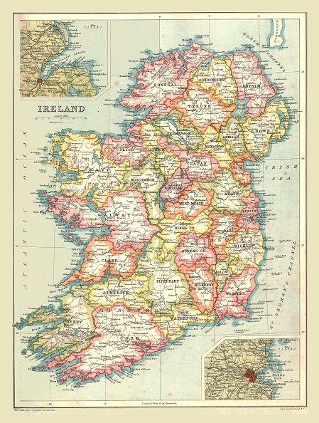 1900-1909「Map Of Ireland」:写真・画像(11)[壁紙.com]