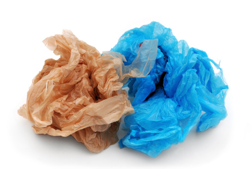 Crumpled「Blue and brown plastic grocery bags」:スマホ壁紙(7)