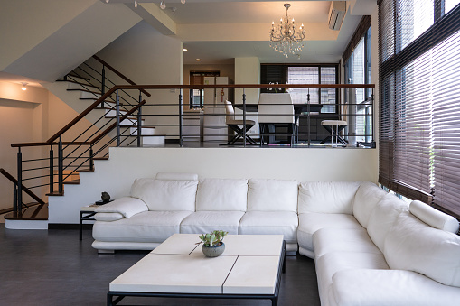 Steps and Staircases「Fresh and modern living room interior」:スマホ壁紙(8)