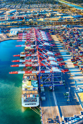 Pier「Port of Long Beach Aerial」:スマホ壁紙(2)