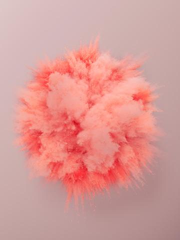 Pink Background「Pink Powder Explosion」:スマホ壁紙(13)