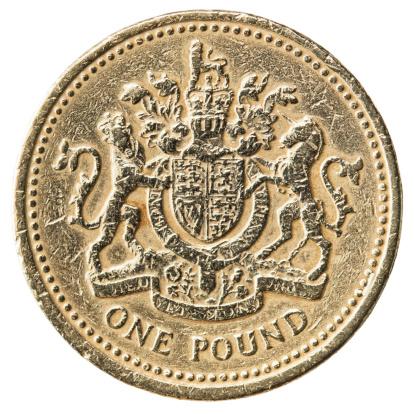 Currency Symbol「Worn UK Pound Coin Close-up」:スマホ壁紙(12)
