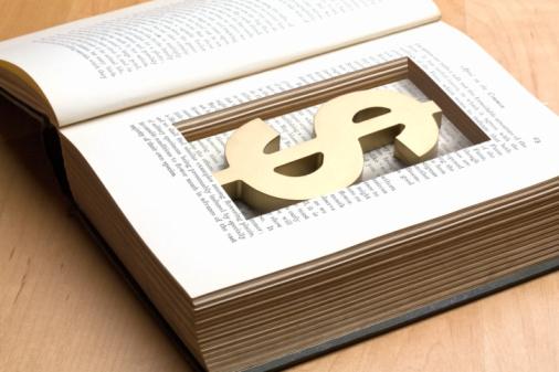 Digital Composite「dollar symbol in cutout inside book」:スマホ壁紙(3)