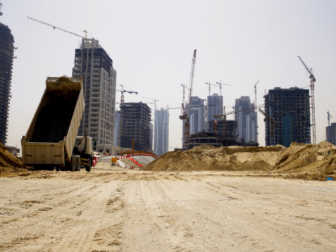 Construction Vehicle「United Arab Emirates, Dubai, building site」:スマホ壁紙(10)