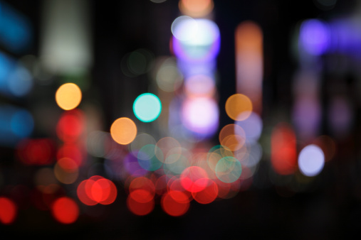Street Light「ny times square - defocused light dots multi colored」:スマホ壁紙(17)