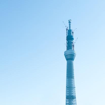 Tokyo Tower「Tokyo Sky Tree under construction」:スマホ壁紙(14)