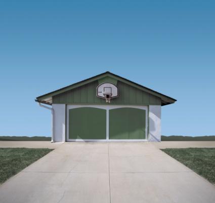 Garage「Basketball hoop above garage door (Digital Composite)」:スマホ壁紙(14)