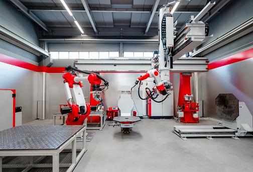 Robotics「Automatic industrial robots for welding at factory」:スマホ壁紙(16)