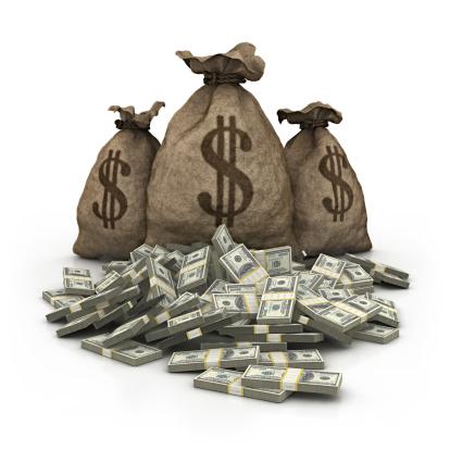 American One Hundred Dollar Bill「dollar bag with dollars heap」:スマホ壁紙(9)
