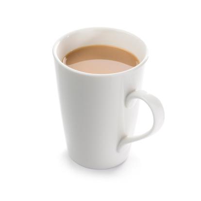 Mug「Mug of English breakfast tea on a white background」:スマホ壁紙(1)