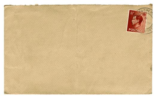 Postage Stamp「British Edward VIII stamped brown envelope, 1937」:スマホ壁紙(8)