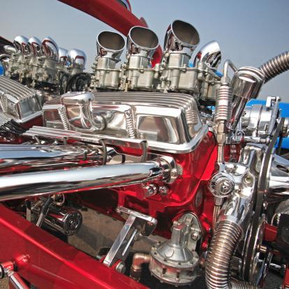 Hot Rod Car「Hot-rod engine, close-up」:スマホ壁紙(7)