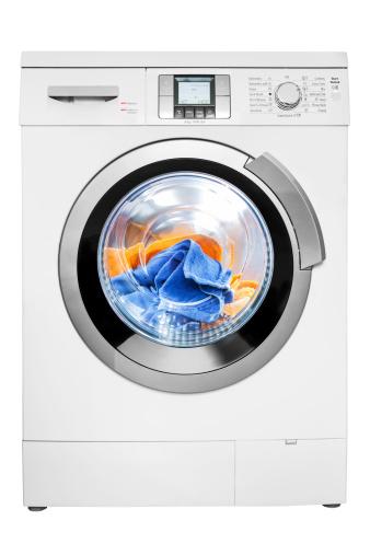 Laundry「Washing machine, isolated on white, clipping path」:スマホ壁紙(4)